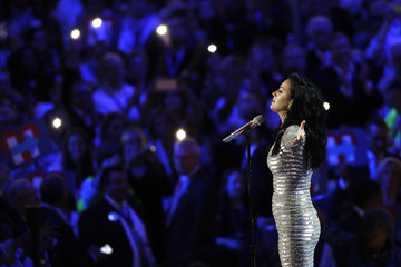 Recording artist Katy Perry performs at the Democratic National Convention in Philadelphia