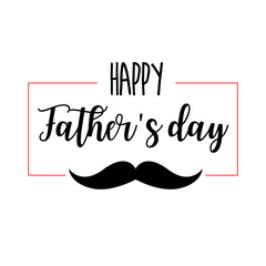 Father's Day. Modern hand lettering and calligraphy. Vector illustration on white background