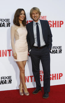 """Cast members Wilson and Byrne pose at the premiere of """"The Internship"""" in Los Angeles"""