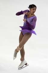 Lau of Singapore performs during the ladies short program competition at the ISU Four Continents Figure Skating Championships in Taipei