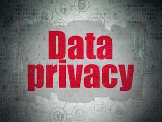 Safety concept: Data Privacy on Digital Data Paper background