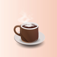 Realistic Coffee Cup Vector Illustration