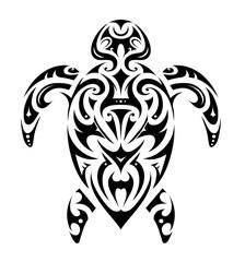 Maori style turtle shape