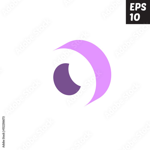 Letter O Template | Initial Letter O Lowercase Logo Design Template Block Violet Purple