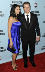 Actor Damon and his wife Barroso arrive at 24th American Cinematheque Award benefit gala in Beverly Hills, California