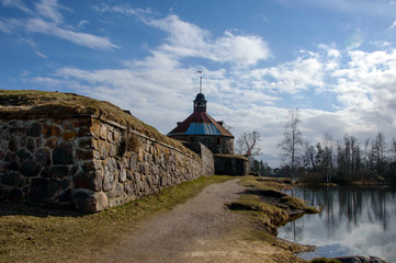 Fortress Korela (Russian, Swedish and Finnish centuries), a stone building in the city of Priozersk, on the island of the river Vuoksi. A historic heritage place for tourism.