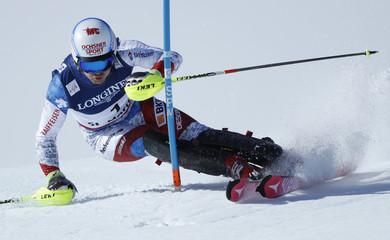 Alpine Skiing - FIS Alpine Skiing World Championships St. Moritz - Men's Alpine Combined - Slalom