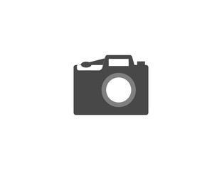 Flat vector digital photo camera tech