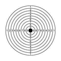 Simple target - stock vector