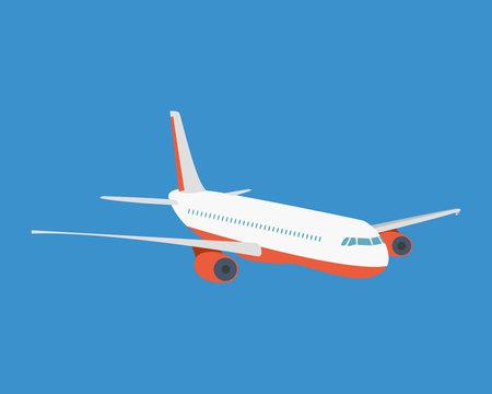 Modern passenger plane, on a light background.