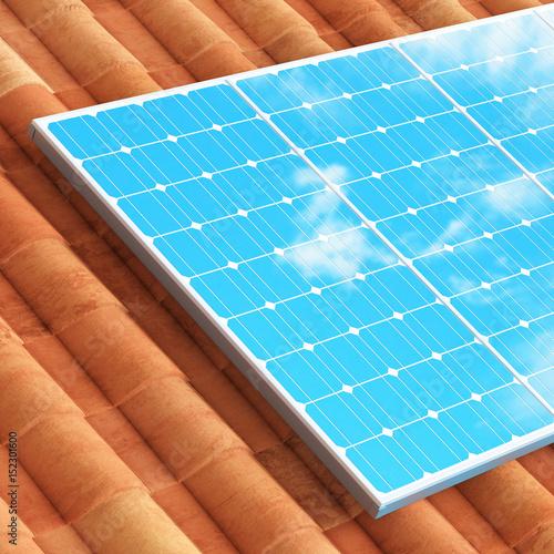 Pannello Solare Sul Tetto : Quot pannello solare sul tetto di casa energia pulita stock