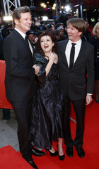 Director Hooper, actors Carter and Firth arrive at the red carpet for the screening of the movie 'The King's Speech' at the 61st Berlinale Film Festival in Berlin