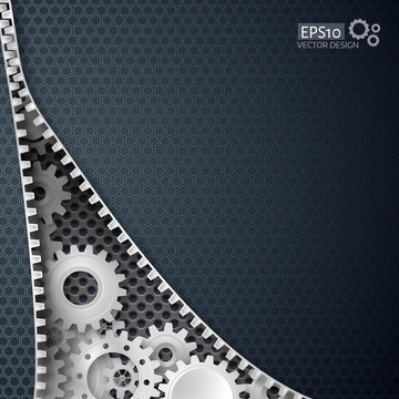 Vector illustration of abstract technology background
