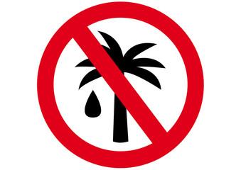 Schild Palmöl verboten