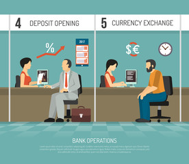 Flat Bank Illustration