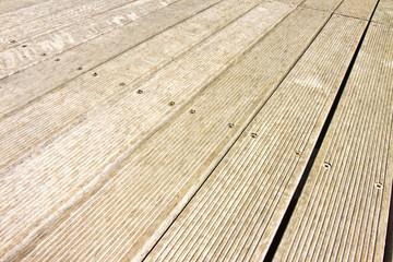 Floor wooden slats for outdoor use