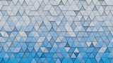 White blue gradient triangles extruded 3D render