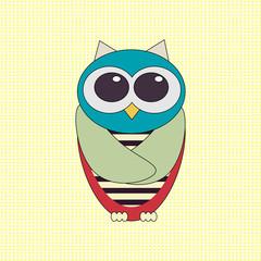 Vector funny owl.