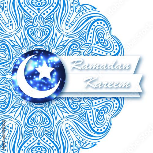 white luxury islamic background paper cut arabic design geometric background vector