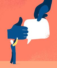 Attività sui social network