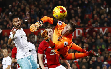 West Ham United's Adrian makes a save