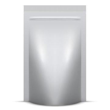 Blank soft standing packaging with zip lock