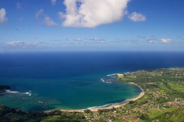 Aerial Hanalei Bay, Kauai