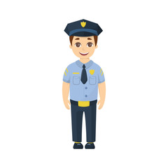 Cartoon kid policeman.