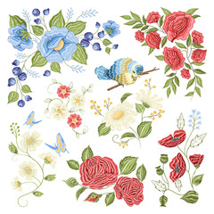 Floral Embroidery Colorful Pattern Pattern