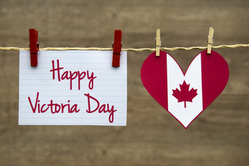 Happy Victoria day greeting card or background.