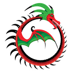 The dragon curtailed into a ring