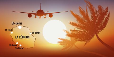 La Réunion - île - tourisme - carte - avion - destination - voyage