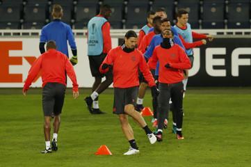 Manchester United's Zlatan Ibrahimovic during training