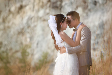 Asian couples photos of pre wedding concept of love and Marriage.