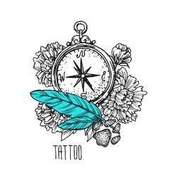 tattoo style illustration