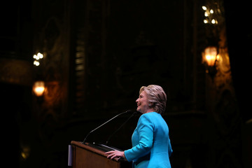 U.S. Democratic presidential nominee Hillary Clinton speaks at a fundraiser in Seattle