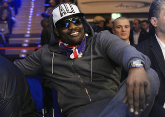 British boxer Chisora arrives for WBA heavyweight world championship fight between Povetkin of Russia and Huck of Germany in Stuttgart