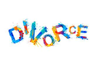 Divorce. Vector watercolor splash paint