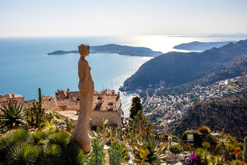 The village of Eze in Provence, French