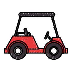 golf car isolated icon vector illustration design