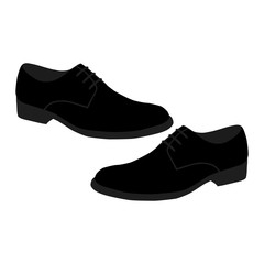 Men's shoes isolated.