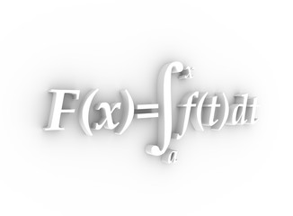 Math formulas. 3D rendering. Education and science relative background