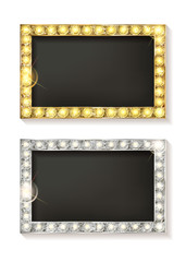 Gold and Silver Vector Picture Frames