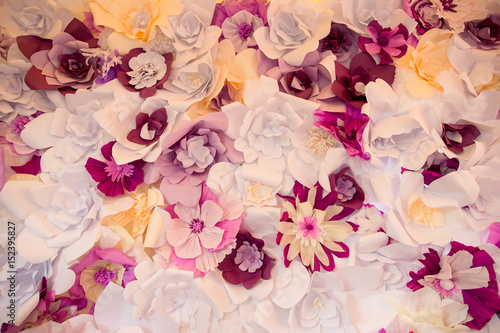 Paper Flowers On Wedding Arch Stock Photo And Royalty Free Images