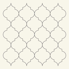 Flat outline moroccan pattern. Tile template