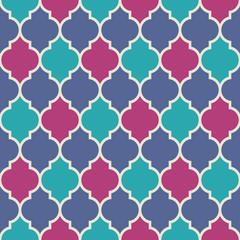 Flat moroccan seamless pattern
