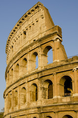 Roman Colosseum in Late Afternoon