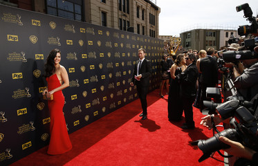 Television personality Katie Lee arrives at the 42nd Annual Daytime Emmy Awards in Burbank