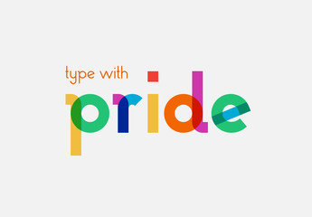 """Type with Pride"" Vector Font Set"