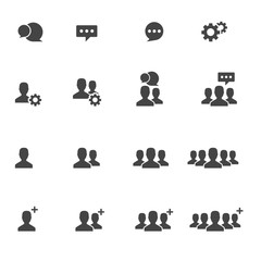People Icons  work group Team Vector , Bubble Text box Symbol Silhouette